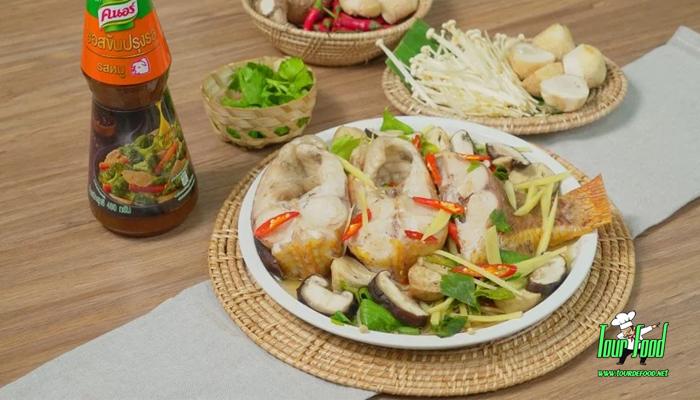 ปลาทับทิมนึ่งเห็ด เมนูเพื่อสุขภาพสุดแสนจะอร่อย