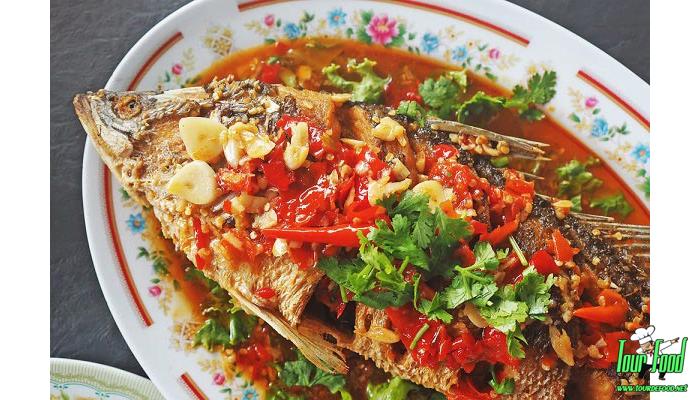 ปลาราดพริกทอดกรอบ หอม อร่อย